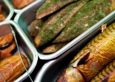 Rökt makrill - fiskdisk Blomlöfs Rökeri